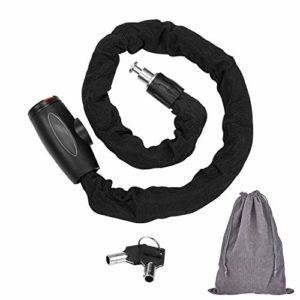 FOBOZONE antivol velo,Chaine Antivol, Haute Quanlity Antivol Cadenas De Vélo Chain Lock Est le Plus Approprié Pour Les Vélo d'extérieur Motos(Taille: 95cm Longueur x 9.5mm Dia/Poids: 1.35 kg)