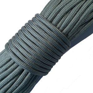 FuckTheFear Paracorde 550 30 Mètres De Haute Qualité – Corde de Parachute 4mm Type III à 7 Brins (Argent)