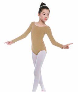 furein Classique Dance Danse Ballet Turn Fille Manches Longues Elastique Col Rond, Chair, 8 años