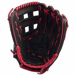 Gant de baseball Wilson A360 30,5 cm pour lanceur à main droit (gauche) – noir / rouge