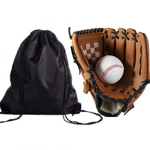 Gants de base-ball Gants de base-ball Combo Set Gants de softball balle avec sac Gants de sport Équipement for les enfants adolescents et adultes baseball Gants Pitcher Gants de sport frappeurs