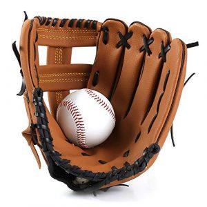 Gants de base-ball Gants softball PU Gant de baseball de Baseball série avec Mitts Joueur de champ intérieur balle for les adultes Enfants Jeunes Baseball Gants Pitcher Gants de sport frappeurs