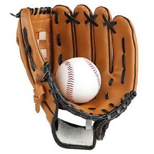 Gants de baseball Lazy Puppy pour sports &activités de plein air. Gants de lanceur avec une balle de softball pour enfants et adultes