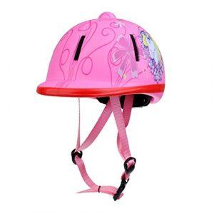 Gaoominy Enfant Enfants reglable Chapeau d'equitation de Cheval/Casque de de la Tete equipement – Neige Rose