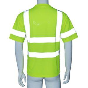 Gazechimp Salut Viz Vis T-Shirt Haute Visibilité Bande Réfléchissante Sécurité Sécurité Work Top XL – Jaune, XL