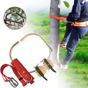 GBHJJ Pole Climbing Spikes, Tree Climbing Gear for Tree Work, Electrician's Foot Buckle, Rust Protection, Wear-Resistant, Easy to Pick Fruits,300Model