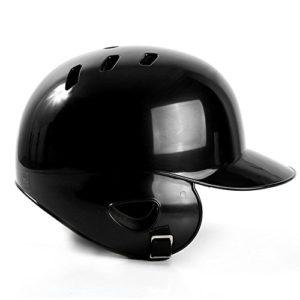 GEZICHTA Casque de Baseball, Professional Adulte Binaural Coque ABS Open Face Baseball Casque moulé Casque de Résistance aux Chocs de Batteur, Noir