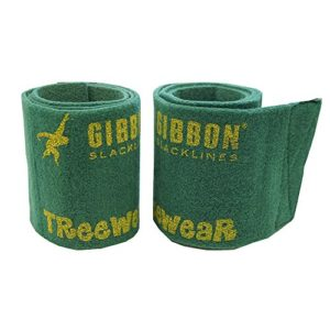 Gibbon Treewear Protection arbre pour slackline Vert 2 x 100 cm x 14,5 cm