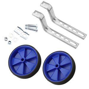 GLOGLOW 2Pcs Stabilisateurs de Vélo, Réglable Enfant Formation Roues Latérales Stabilisateur Enfants Vélo Accessoire pour Enfants 12-20 Pouce Garçon Fille Vélo Équilibre (Bleu)