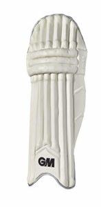 GM Cricket Original Édition limitée Batting Pad, Mixte, 50201925, Blanc/argenté/Noir, Small Adult RH