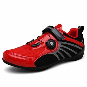 GOMNEAR Chaussures de vélo Biking Mountain Baskets Respirantes avec Panneaux de Maille