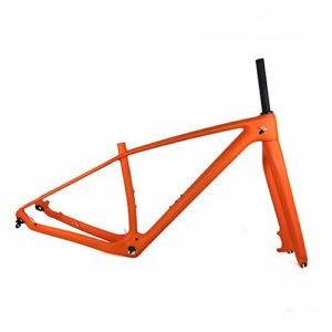 GONGJU 2020 New 29er Full Carbon VTT Cadre et Fourche 27.5er 650B Mountain Bike Carbon Frameset QR ou axe traversant Disponible,Glossy,29er 15inch