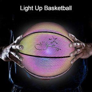 Goodtimera Ballon de basket-ball réfléchissant en PU N° 7 pour garçon