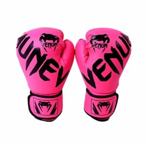 Goodtimera Gants de boxe Thai en cuir pour boxe Sparring Kickboxing, combat, sac de boxe, double end Speed et Focus Pads trendy, rose