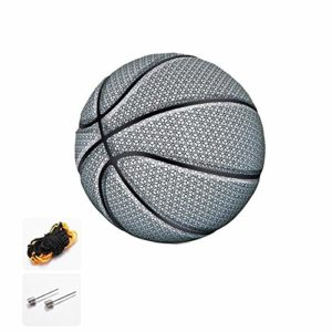 Goodtimera Illuminez Le Basket-Ball dans Le Noir – Lumière Fluorescente – Taille Officielle – Parfait pour Les Hommes et Les Adolescents, Mixte, Blanc.