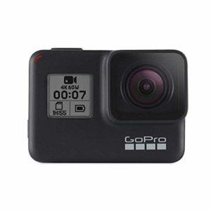 GoPro HERO7 Black – Caméra numérique embarquée étanche avec écran tactile, vidéo HD 4K, photos 12 MP, diffusion en direct et stabilisation intégrée