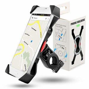 Grefay Support Téléphone Vélo Guidon de Vélo Moto Berceau Collier avec Rotation 360 pour 3,5 à 6,3 Pouces GPS pour Smartphones