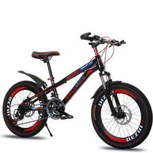 GRXXX Enfants de vélo de Montagne Se Pliant Amortisseur Avant et arrière de Bicyclette 20 Pouces,Black-20 inches