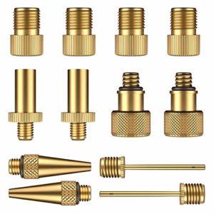 HENMI 12Pcs adaptateurs pour valves, Cuivre pur sans fuite d'air, Pour vélo, Pompe à vélo et compresseurs pompes
