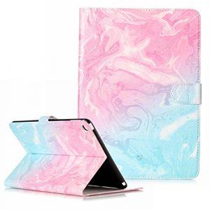 Herbests Compatible avec iPad 6 Coque Ultra-Mince Flip Portefeuille 3D Effet Motif Coloré Peint Flip Wallet Housse Folio à Clapet Protection Soft Leder,Vert