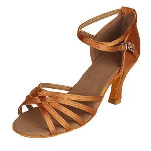HIPPOSEUS , Chaussures de Danse pour Homme – Marron – 7cm-Heel Brown, 37 1/3