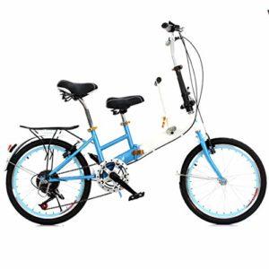 hj Parent-Enfant vélo, 20 Pouces Mère et Enfant vélo Haut en Acier au Carbone Ville Ceinture bébé Vélo Parent-Enfant vélo,Bleu
