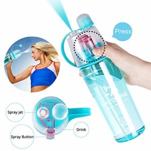 HKTOPONE Water Bottle 600ml Bleu Bouteille d'eau de Sport Bouteille de Boisson pour vélo, Conduite, Escalade et Beaucoup Plus