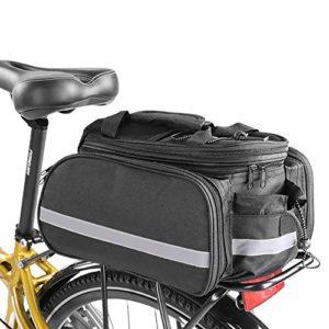 HLR Sacoches Porte-Bagages Vélo arrière Siège Duffel Sac, 27L Grande capacité Sac étanche Shelf, Convient for VTT, vélo de Route, vélo de Loisirs, vélo Pliant, etc.