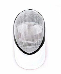 HYFEC Fechtmaske CE 350N Zertifiziert – Fechtschutzausrüstung für Erwachsenen- / Jugendzaunschutzgeräte (S,Blanc)