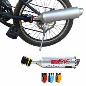 INGHU Tuyau d'échappement pour vélo Turbo Système sonore avec 6 Autocollants pour Carte Son, kit de Montage de Rayons pour Enfants, Voir Image, 41 x 7.5 cm