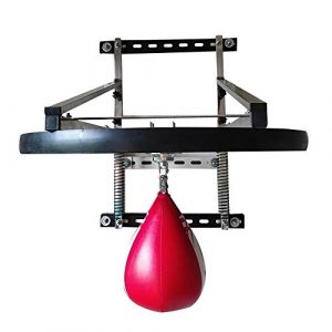 JenLn Sac De Boxe Vitesse Plate-Forme Ajustable en Hauteur Endurance De Boxe D'entraînement 3 Shaft Soutien Formation de Muay Thai (Color : Wood, Size : 25mm)