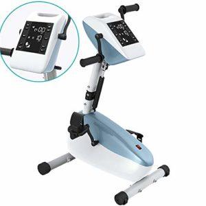 JFJL Physiothérapie Électronique Rehab Exerciseur Vélo Entraîneur À Pédales Cycle Bras Pédale Exerciseur À Pédale Vélo Récupérateur De Santé Pédale pour Handicapé, Invalide Et Survivant De L'avc