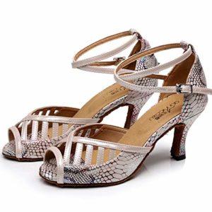 JHDPH3 Chaussures Cuir Femme Chaussure Danse De Salon Femme Chaussures De Danse Latine Femme Chausson De Danse Enfant Chaussures De Danse (Color : Pink, Size : US10.5/EU43/UK9.5)