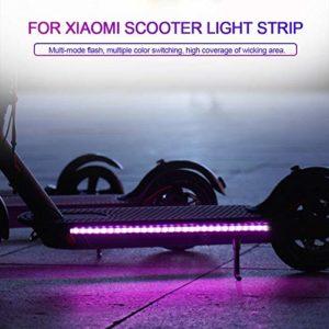 jinclonder a mené des lumières de Bande pour des Accessoires de Scooter électriques de Xiaomi M365, chapiteaux colorés Pliables de LED de Scooter de lumière de Bande Durable