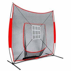 Jklt Filet D'entraînement de Baseball 210x210cm Baseball Practice Net Baseball Softball Pitching Frapper Sac entraîneur avec succès Zone Conception Facile à Utiliser et Stable
