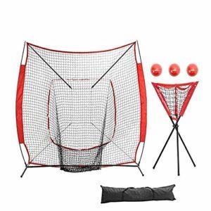 Jklt Filet D'entraînement de Baseball Strike Zone Cible Lutte Baseball Net Home Run Baseball Softball Practice Net Pitcher Formation Nette Bloc Conception Facile à Utiliser et Stable