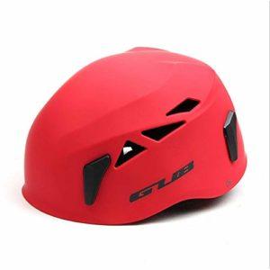 Jullyelegant Casque GUB D6 Outdoor Development Spéléologie Rescue Mountaineering Casque Drifting Safety Hat Escalade Equipment – Red