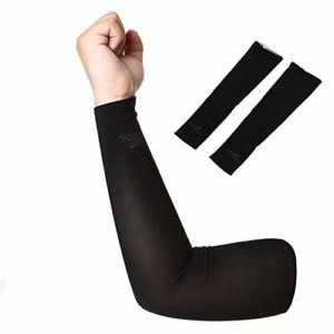 Jullyelegant Protection Solaire, Manches UV – Noir