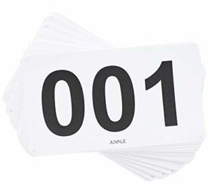 Juvale Lot de 100 Bavoirs de Course avec numéro de Course Marathon 001-100 10,2 x 17,8 cm