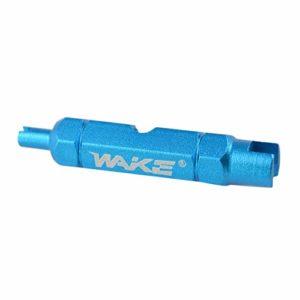 Kaemma Outil de démontage de la clé de la clé de vélo Wake à Double tête, Outil de dépose de la Valve Multifonction de la clé du démontage(Color:Blue)