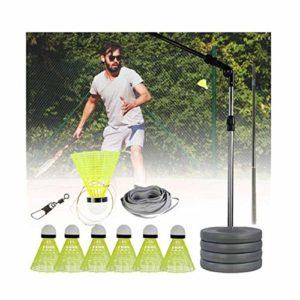 Kathariiy Elastic Badminton Trainer – Entraîneur de Badminton Adulte Adulte | Portable One Person Badminton Single Play – Jeu de Badminton d'entraînement Automatique