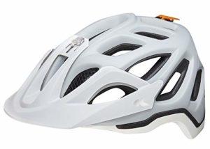 KED Trailon – avec Bande de sécurité RennMaxe – Casque de vélo – Casque de Ski VTT BMX Adulte, 0719975217701, Gris/Blanc Mat, 56-62 cm