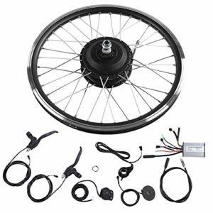 Kit de conversion de vélo électrique, 26″ Roue Frontmotor ou Rearmotor Imperméable Kit de conversion de moteur de vélo E-vélo moyeu de vélo Affichage LCD 36V/48V 350W(Moteur avant 36V)