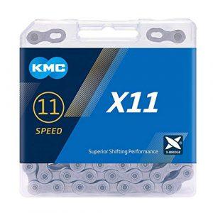 KMC X11 Chaîne Mixte, Gris, 118 Link