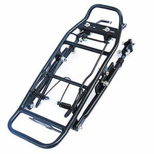 KQP Tablette de Vélo de Haute Qualité Porte-vélos Porte-Bagages Noir en Alliage d'aluminium vélo Porte-Bagage léger arrière vélo Shelf (Color : Black, Size : One Size)
