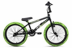 KS Cycling BMX Freestyle 20″ «23 Circles» Noir-Vert 20» Jeunesse Unisexe, 25