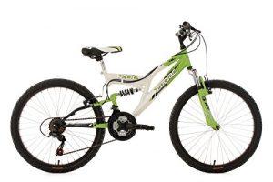 KS Cycling Zodiac VTT tout suspendu pour Enfant Vert 24»/38 cm