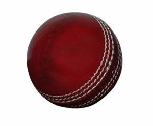 KSZ TRADERS Balle de Cricket en Cuir de qualité A, Cousue à la Main pour Un Test et Une journée Match Rouge