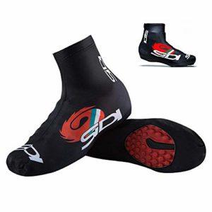 Lesgos Couvre-Chaussures de Cyclisme, Hiver imperméable Coupe-Vent Plus Chaud Montagne Route vélo Chaussures Couvre Les Sports de Plein air Pluie Couvre-Chaussures