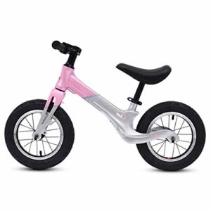 LIBINA Premier Vélo Vélo sans Pédales Vélo Balance 4 Ans – Enfants, Vélo sans Pédale pour Garçons/Filles/Enfants, Roues De 12,5 Po,Pink